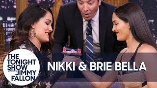 Nikki and Brie Bella Compete in the Tonight Show's Thumb Wrestling Championship
