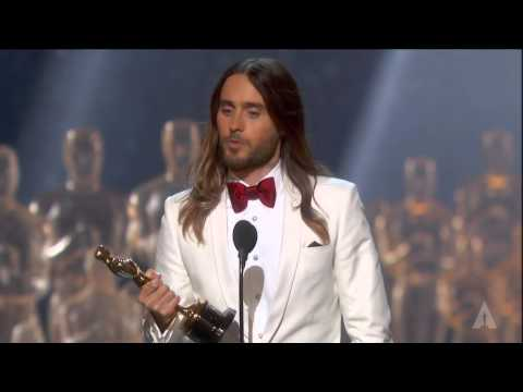 Jared Leto winning Best Supporting Actor - YouTube