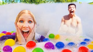 I Filled my pool with $1000 of Foam!