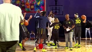 Watch Sonya Curry hit an insane half-court shot at NBA All-Star Weekend