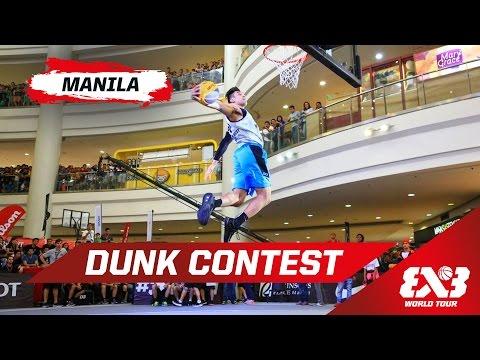 Dunk Contest w/ R. Guevarra & P. Maberry - Manila - 2015 FIBA 3x3 World Tour