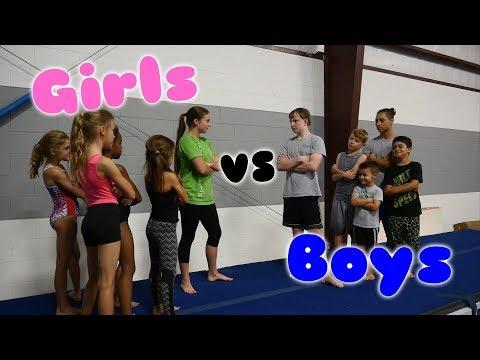 Boys VS Girls Gymnastics Challenge  Rachel Marie