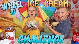 MYSTERY WHEEL OF ICE CREAM SUNDAE CHALLENGE!!