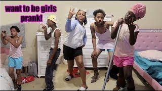MYKEL & WOO WANTS TO BE GIRLS PRANK ON FUNNYMIKE!