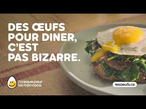 Des œufs pour dîner, c'est pas bizarre. Si vous trouvez ça bizarre, vous êtes bizarre.  J'craque pour toi mon coco! www.lesoeufs.ca
