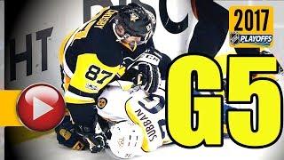 Nashville Predators vs Pittsburgh Penguins. 2017 NHL Playoffs. Stanley Cup Final. Game 5. (HD)