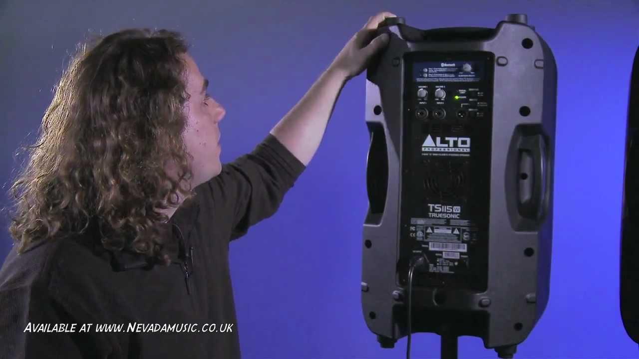 alto truesonic 800 watt wireless bluetooth dj and pa speakers nevada music uk youtube. Black Bedroom Furniture Sets. Home Design Ideas