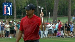 Tiger Woods' monster birdie putt on No. 17 at Valspar