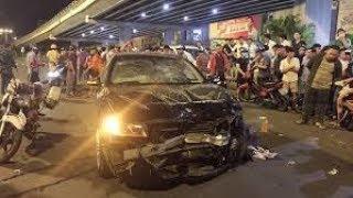 Tai nạn giao thông ở Sài Gòn: Nữ tài xế ô tô hiệu BMW tông liên hoàn xe máy chết 1 bị thương 7 người