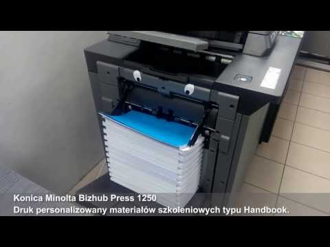 Konica Minolta Bizhub Press 1250. Zaawansowany druk czarno-biały w wysokiej jakości.