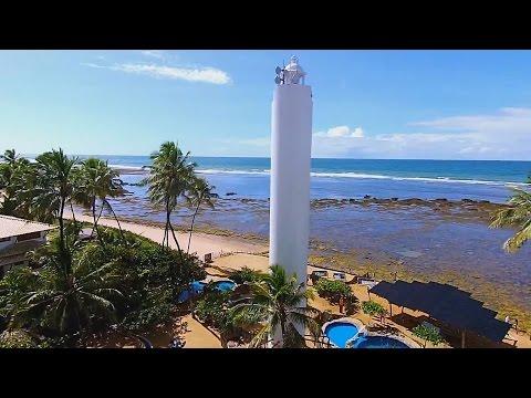 Praia do Forte – Bahia – Drone mostrando as belezas da Praia do Forte
