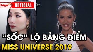 Thứ hạng 'THẬT SỰ' của Hoàng Thùy tại Miss Universe 2019 vô tình bị lộ qua bảng điểm