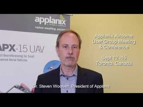 Applanix President Steve Woolven Airborne User Group Meeting and Conference Invite