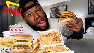 In N Out Burger + Animal style Burger | Mukbang