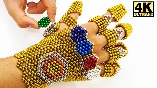 Amazing THANOS Infinity Gauntlet Made Out Of 1,854 Magnetic Balls (DIY ASMR) | Magnetic Man 4K