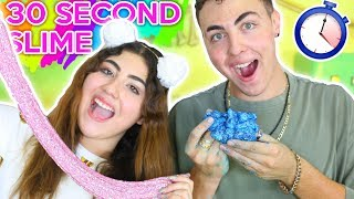 30 SECOND SLIME CHALLENGE | Galaxy, corn starch, fluffy slimes | Slimeatory #96