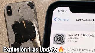 Un iPhone X Explota tras actualizar a iOS 12.1...