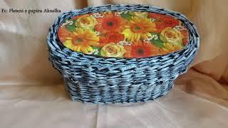 Pletení z papíru - Patina