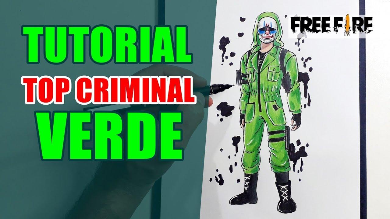 Como Desenhar Fácil O Top Criminal Verde Cómo Dibujar Free