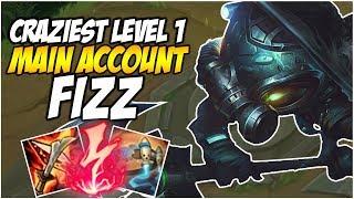 CRAZIEST LEVEL 1 ON FIZZ - Climb to Master S8, Diamond Promo   League of Legends
