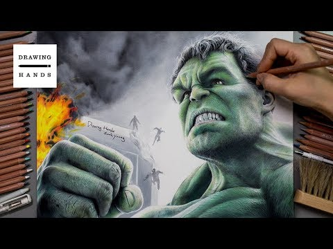 Marvel Avengers infinity War - Hulk Drawing [Drawing Hands]