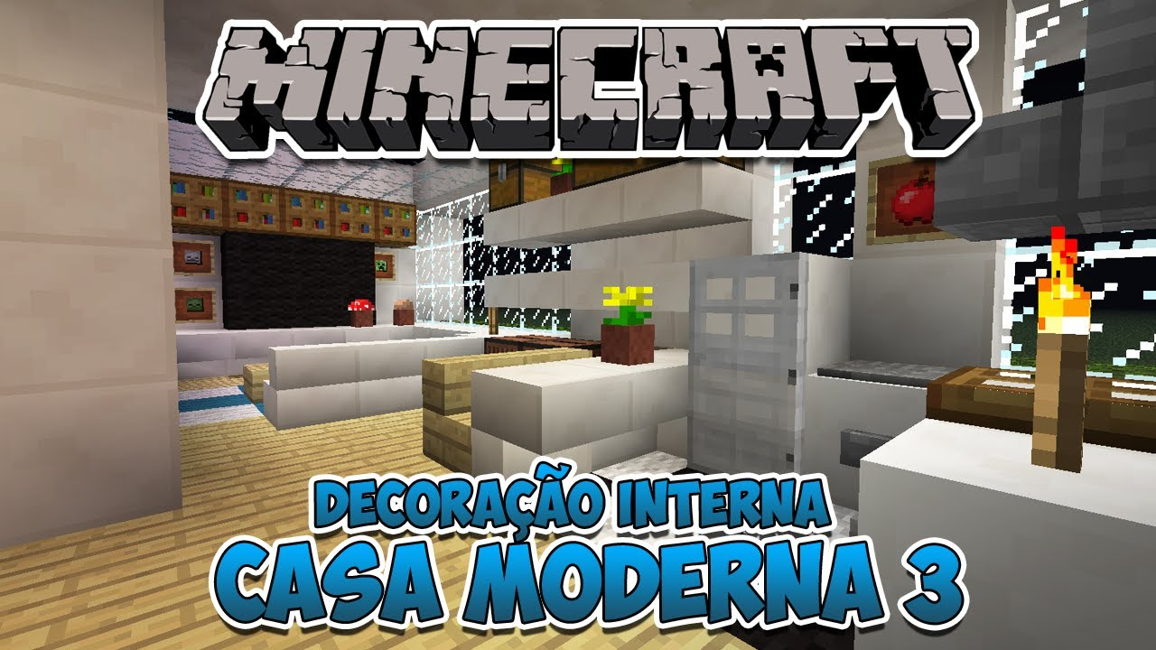 Minecraft decora o interna da casa moderna 3 youtube for Casa moderna 0 12 1