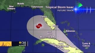 Tropical Storm Isaac barrels through the Caribbean