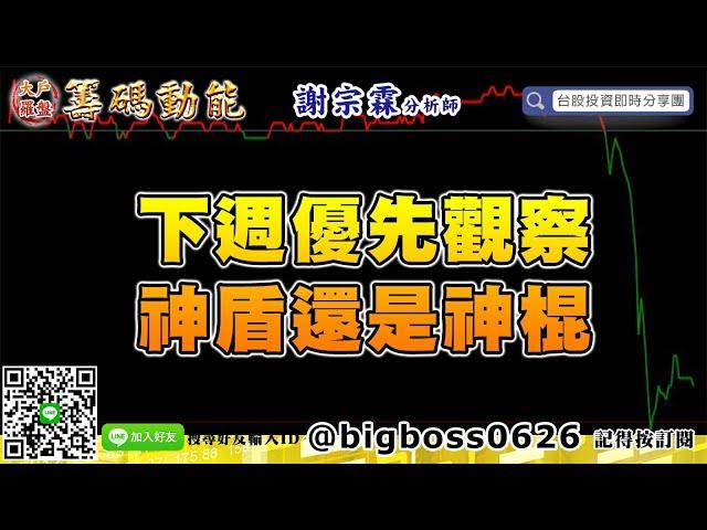 【大戶羅盤籌碼動能】 #謝宗霖0524,下週優先觀察,神盾還是神棍。