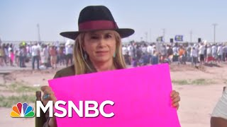 Mira Sorvino Wears Jacket Saying 'WE CARE' To Rally For Migrant Kids | AM Joy | MSNBC