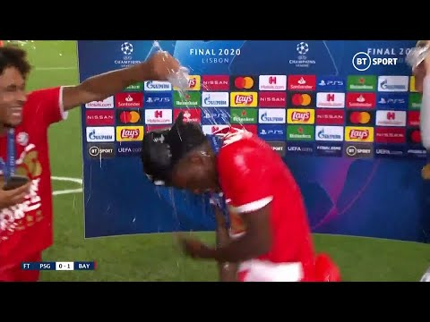 """COME ON!"" Alphonso Davies' interview after winning Champions League is gatecrashed!"