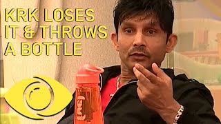 KRK Throws A Bottle At Rohit! - Bigg Boss India - Big Brother Universe