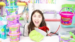 EXTREME CHRISTMAS SLIME MAKEOVER ON MY STORE BOUGHT SLIMES BUCKETS ~ Slimeatory #499.4