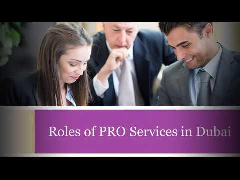 Roles of PRO Services in Dubai