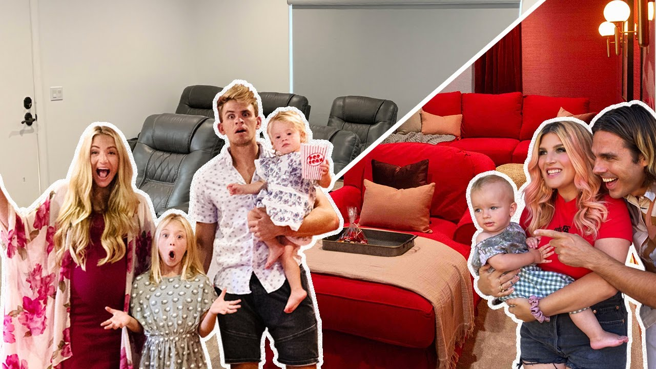 Ultimate DIY Home Movie Theater for The LaBrant Family!
