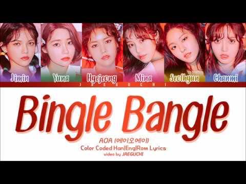 AOA - Bingle Bangle (빙글뱅글) (Color Coded Lyrics Eng/Rom/Han)