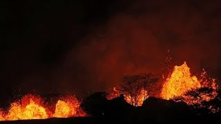 Man's leg 'shattered' by lava spray from Hawaii volcano | ITV News