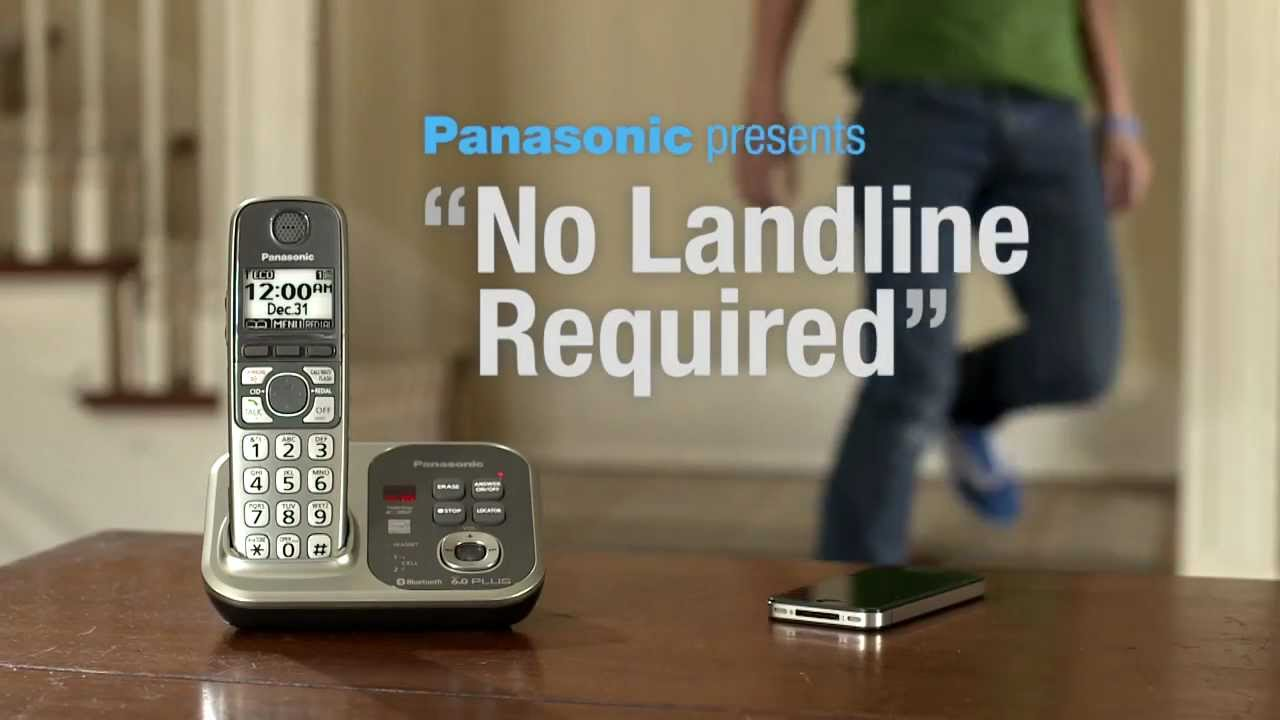 panasonic link to cell no landline youtube. Black Bedroom Furniture Sets. Home Design Ideas