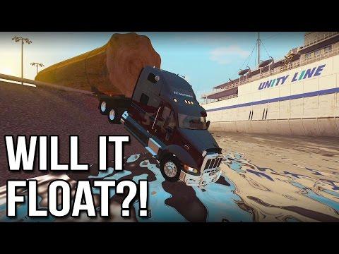 Will It Float?! - Euro Truck Simulator 2 (Livestream Highlight)