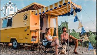 COMPLETE TOUR: Vintage Camper Remodel w/ OFF-GRID APPLIANCES