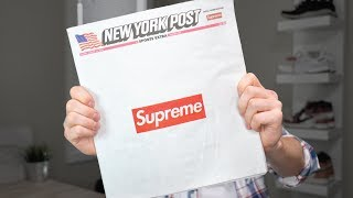 SUPREME SELLS OUT THE NEW YORK POST!