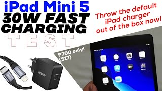 iPad Mini 5 30W USB-PD Charging Test: Get this $17 (₱700) charger & THROW the default charger NOW!