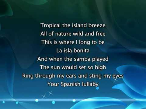 Madonna - La Isla Bonita, Lyrics In Video