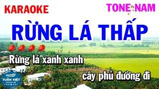 Karaoke Rừng Lá Thấp Tone Nam Am Nhạc Sống Rumba Hay