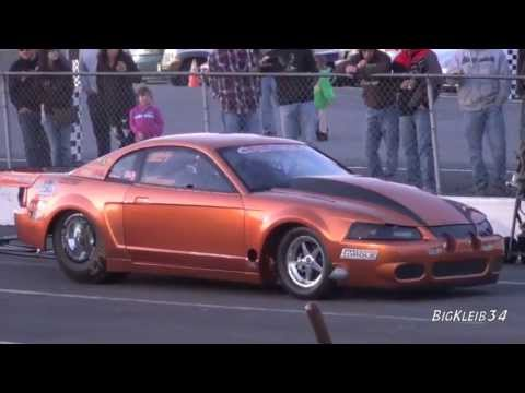 Twin Turbo Super Stang Test Pass- Streetcar Shootout Practice @ Cecil County Dragway - Smashpipe Autos