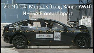 2019-2020 Tesla Model 3 (Long Range AWD) NHTSA Frontal Impact