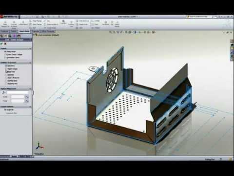 Solidworks Sheet Metal Design Youtube