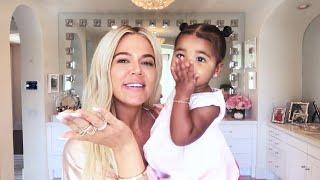 Watch True Thompson Crash Khloe Kardashian's Makeup Tutorial!