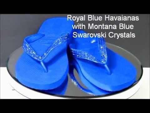 Custom Swarovski Crystal Havaianas Flip Flops by AdvantageBridal.com