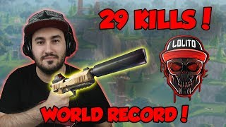 💀 ¡RECORD MUNDIAL en SOLO, 29 KILLS WIN, SNEAKY SILENCER! 💀 ~ FORTNITE