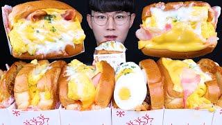 에그드랍 전메뉴 샌드위치 먹방ASMR MUKBANG EGG DROP SANDWICH 卵のサンドイッチ eating sounds